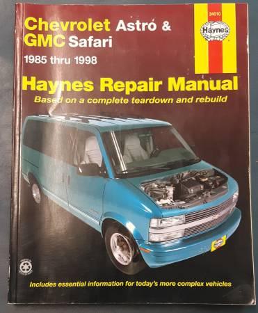 Photo Haynes Repair Manual Chevrolet Astro Van GMC Safari 85-98 - $15 (Cedar City)