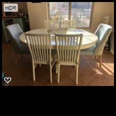 Photo Pier One Extension Table w4 Chairs - $250 (WASHINGTON)