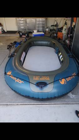 SEVYLOR FISH HUNTER INFLATABLE BOAT - $280 (Phoenix)