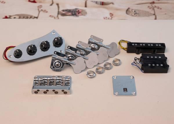 Photo Squier Fender Jaguar Bass Parts Bridge Tuners Pickups - $35 (Boulder City)