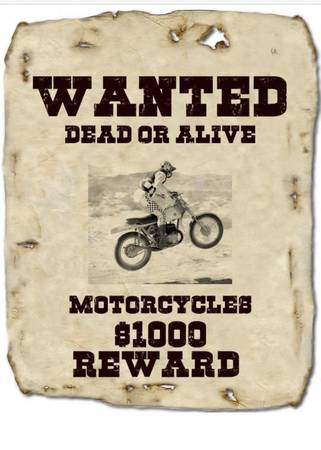 Photo WANTED MOTORCYCLES VINTAGE OLD DEALER STOCK PARTS 1-100 ANYTHING - $10,000 (ST GEORGE ALL )