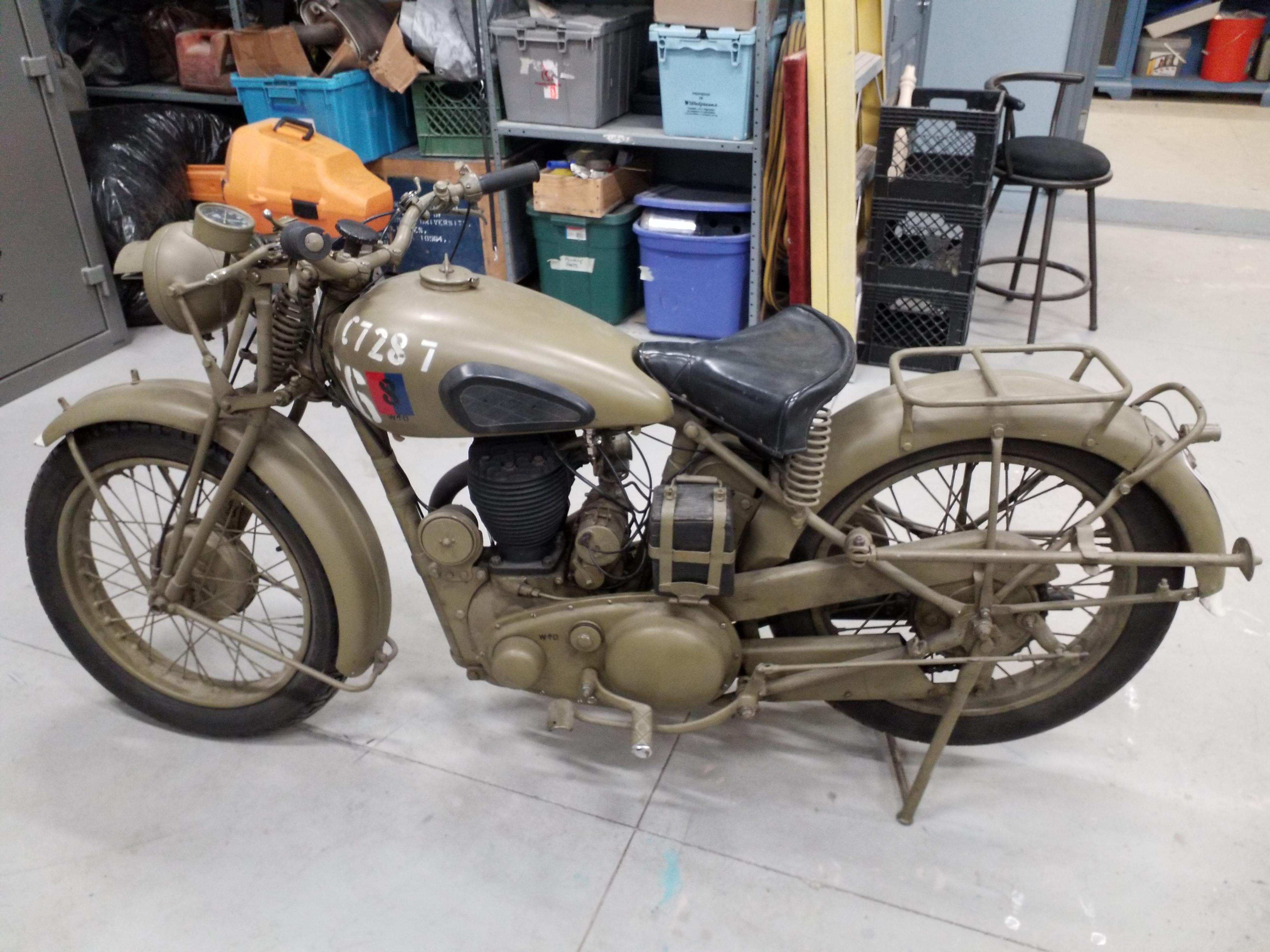 Photo Used 1941 BSA Classic  Vintage Motorcycle  $8000