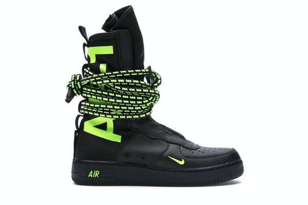 Photo 2018 Brand New Nike SF Air Force 1 High Black Volt men39s size 10 12 - $200 (STILLWATER)