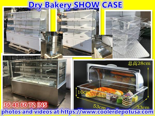 Photo Dry Bakery SHOW CASE Federal Donuts Bakery Pastry Display Curved Glass - $249 (100 new)