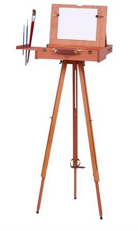 Photo M.A.B.E.F. PROFESSIONAL ARTISTS BEECH WOOD POCHADE BOX EASEL w TRIPOD - $140 (Maple Ridge)