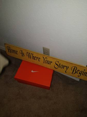 Photo Nice new quotHome is Where Your Story Beginsquot Wooden Wall Art ONLY $50 - $50 (STILLWATER)
