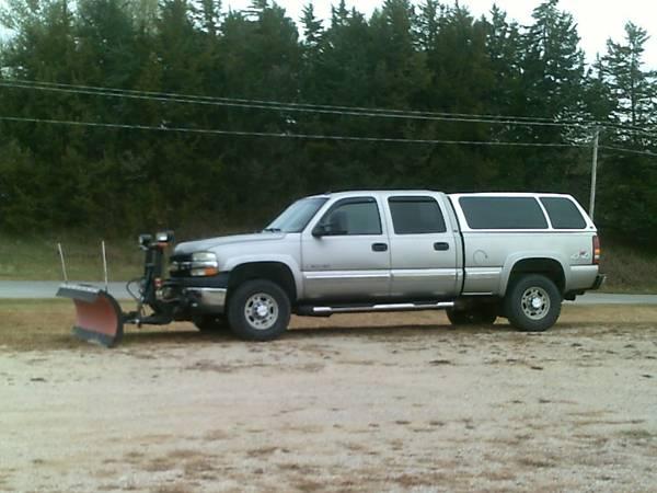 Photo 2002 Chevy 4X4, 2500 HD, Crew Cab, Boss Snow Plow - $8999 (Southwest Iowa)
