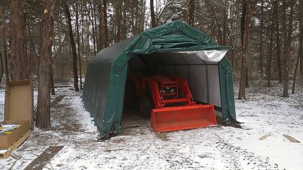 Photo 12x24x10 shelter logic garage - $500 (Chesterfield)