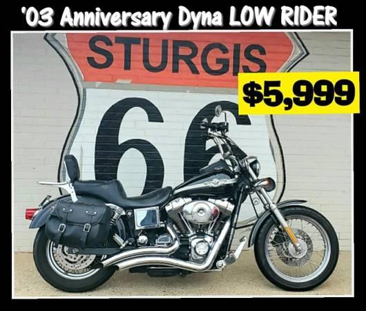 Photo 2003 Harley Davidson 100th Anniversary Dyna LOW RIDER  - $5,999 (Ofallon, MO)
