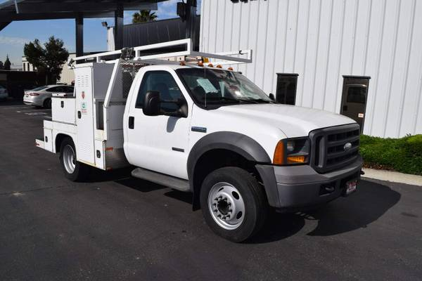 Photo 2005 Ford F450 Flatbed Service Truck - $13,500 (Call Us Today For An Instant Quote)