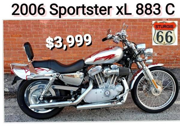 Photo 2006 Harley Davidson Sportster xL 883 C  Rare Paint - $3,999 (O39fallon, MO)