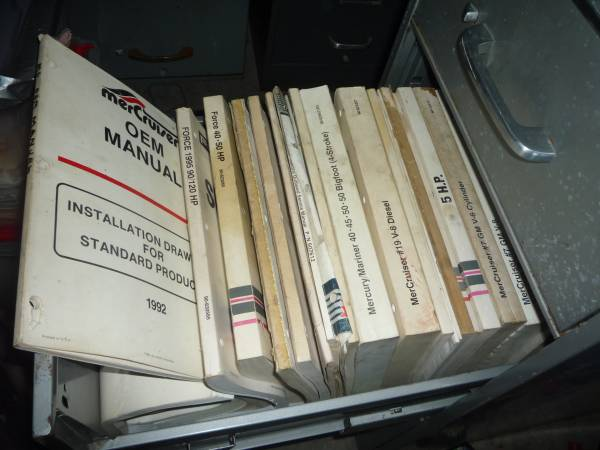Photo 4 File 5 drawer cabinets filled with service manuals for Marine repair - $300 (O39fallon)