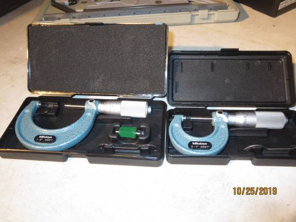 Photo Mitutoyo Machinist Tools Micrometers - $125 (north county)