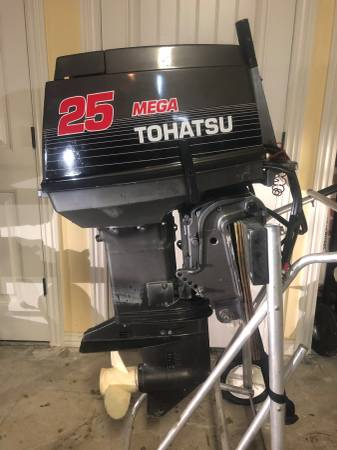 Photo Nissan Tohatsu Mega Outboard Boat Motor 25 40 Estart Start Short Shaft - $3200 (Springdale Arkansas)