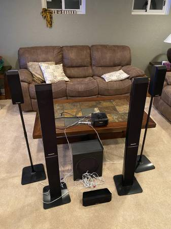 Photo Panasonic surround sound speakers receiver DVD player - $150 (CHESTERFIELD)