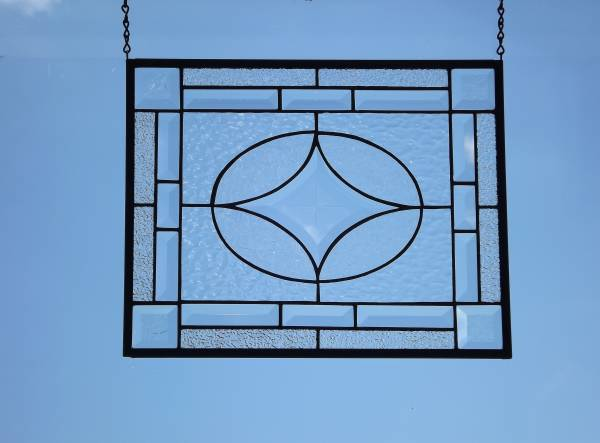 Photo Stained Glass Panel with Star Bevel - $149