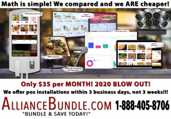 Photo The BEST POS Fast Install $35 Per Mo Online Ordering Free QSR Retail - $35 (POSSYSTEM)