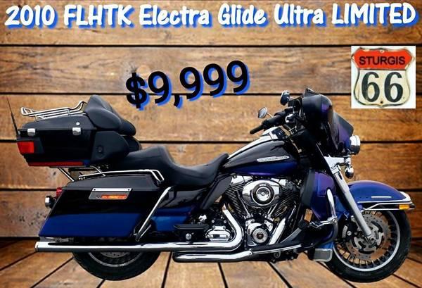 Photo 2010 Harley Davidson FLHTK Electra Glide Ultra Limited  LOW MILES - $9,999 (O39fallon, MO)