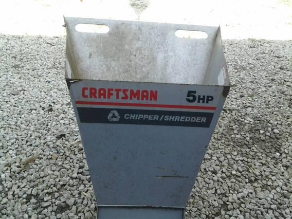 Photo craftsman chipper  shredder - $150 (Eureka)