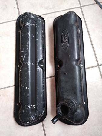 Photo 1962 to 1995 221 Ford 260 SBF 289 302 5.0 351W Windsor Valve Covers - $75 (North Stockton)