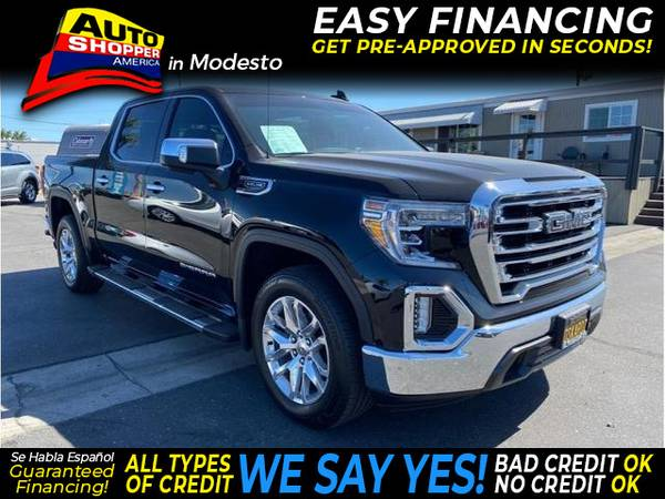 Photo 2019 GMC Sierra 1500 Crew Cab SLT Pickup 4D 5 34 ft (- EZ Financing - Get Pre-Approved in Minutes)