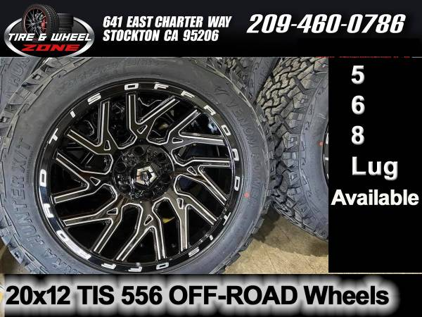 Photo 20x12 TIS 556 OFF-ROAD Wheels  Tires 5,6,8 Lug Available - $1,799 (WE FINANCE NO CREDIT NEEDED)