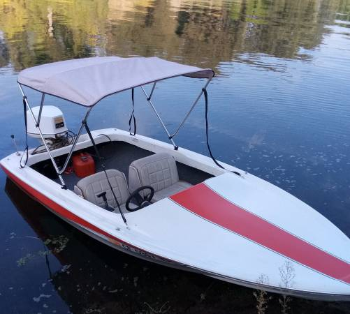 Photo 2 boats and 2 motors, Barracuda Hydrocycle  Speed Boat, super fast - $1,800 (Modesto CA)