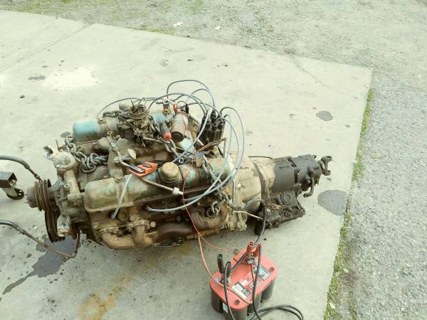 Photo Buick 364 nailhead engine and dynaflow automatic transmission - $800 (Valley Springs)