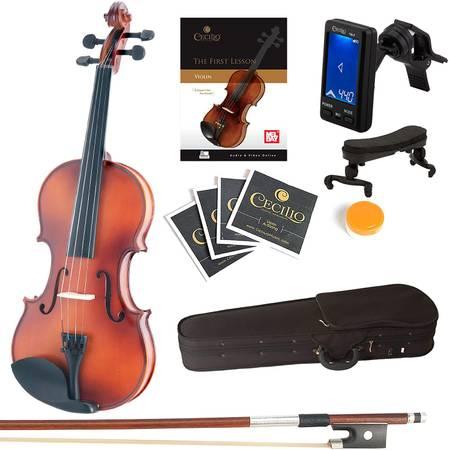 Photo Mendini MV300 Solid Wood Violin Set, Size 12  NEW - $70 (Stockton)
