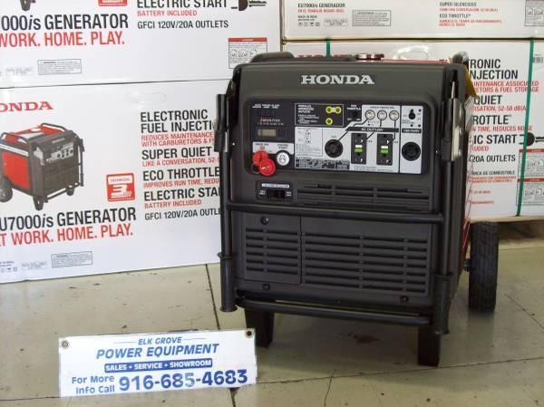 Photo New Honda eu7000is generator (10288 iron rock way)