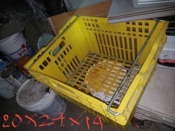 Photo Used heavy duty storage containers - $15 (Stockton)