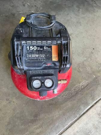 Photo porter cable air compressor - $50 (Stockton)