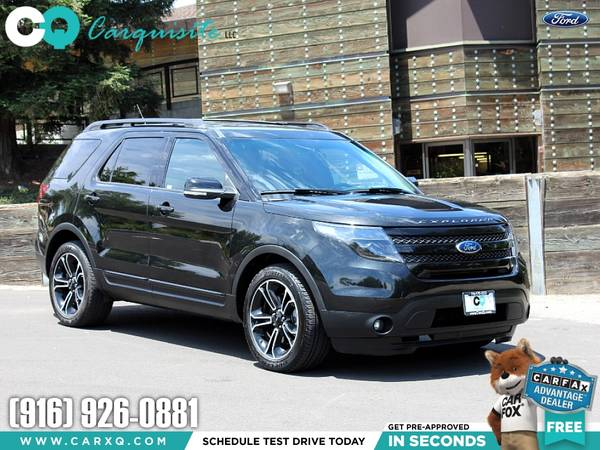 Photo 2015 Ford Explorer Sport 4x4 3rd row Black Package - NICE - $17988 (Ford Explorer 2015 Car SUV Truck CUDL)