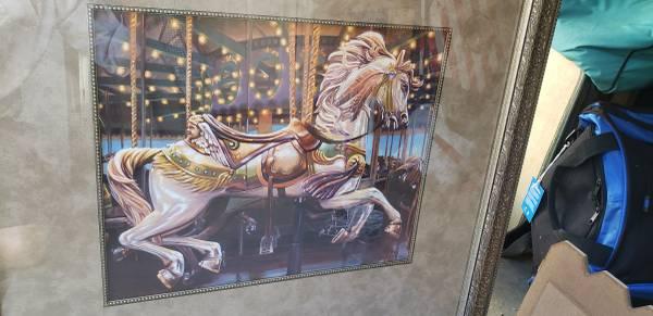 Photo Carousel Horse framed print - $70 (South Reno)