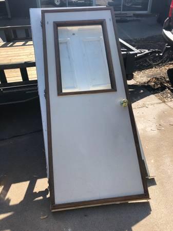 Photo 10 doors 2 sliding glass doors jams and hardware - $500 (Goddard)