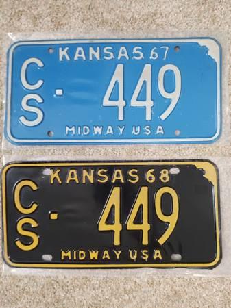 Photo Kansas License Plates - $30 (Newton)