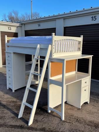 Photo Twin Loft Bed - $100 (Garden City)