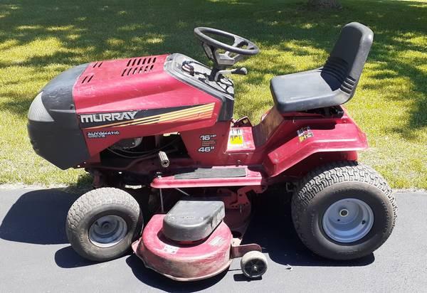 Photo 46quot Murray Riding LawnMower  Tractor 16hp BriggsStratton -Runs Great - $350 (MillburgColomaBenton Harbor)