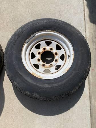 Photo 4 GM 8 lug Wheels and tires - $160