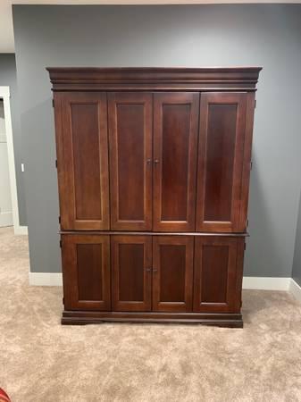 Photo Computer armoire and small bookshelf - $250 (St Joseph, MI)
