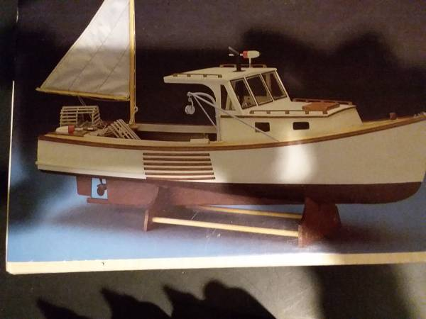 Photo Maine Lobster Boat Wood Display Model Kit, supplies and tools - $99 (Kentwood)