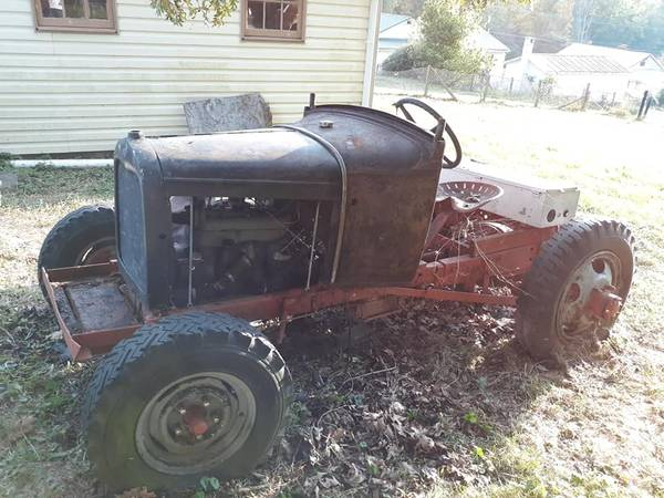 Photo 1930 Model A Ford Doodlebug Tractor - $1,400 (Talcott)