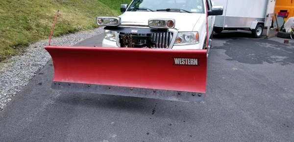 Photo Western Ultramount 7 12 foot Steel Snow plow - $1,800 (Hardy, VA)