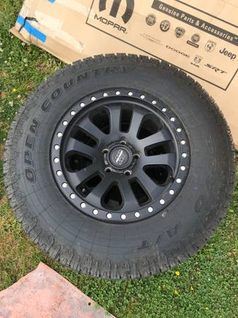 Photo 3 Jeep Wrangler 5x5 JL JK Pro Comp wheels and Toyo Open Country tires - $650 (Forest city Nc)