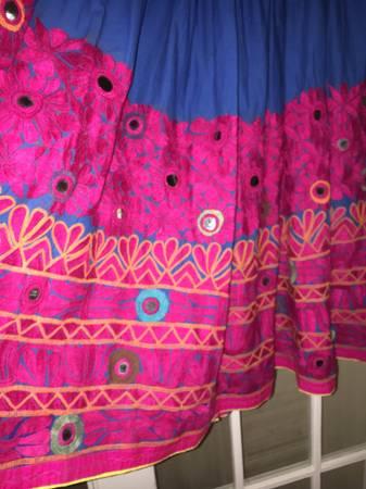 Photo Boho Vintage India Textile Skirt size M - $50 (Asheville)