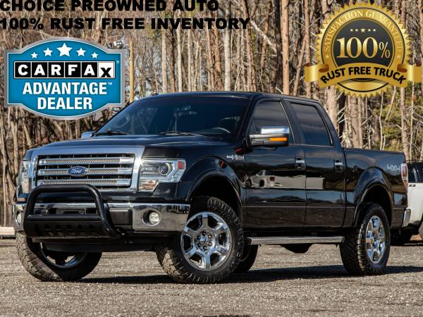 Photo CLEAN CARFAXRCX LEVELED 2014 FORD F150 LARIAT CREW CAB 4X4 - $19995 (Ford GMC Dodge Toyota Chevrolet)