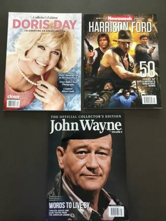 Photo Collectors Magazines Doris Day, Harrison Ford, John Wayne - $25 (Fletcher)