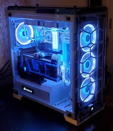 Photo Custom Built Hardline Water Cooled Gaming PC RTX 2080 Ti i9 Like New - $3,400 (Asheville)