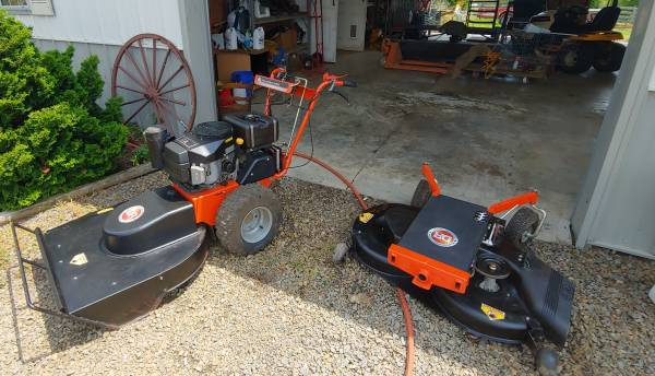 Photo D R Field and Brush Mower with finish mower attachment - $2700 (Meadows of Dan, VA)