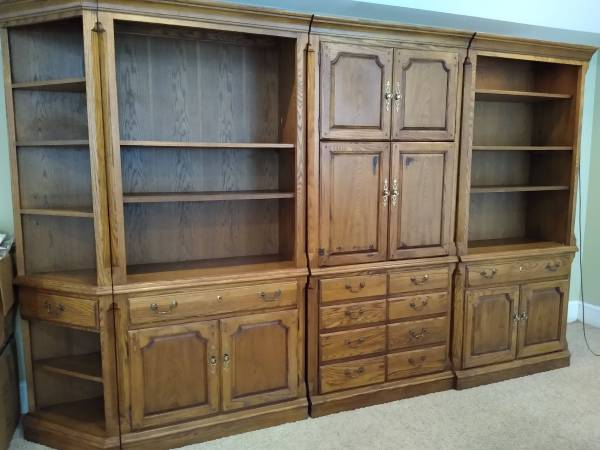 Photo Entertainment Center TV Unit Shelves Thomasville Furniture Bookcases - $700 (Mars Hill)
